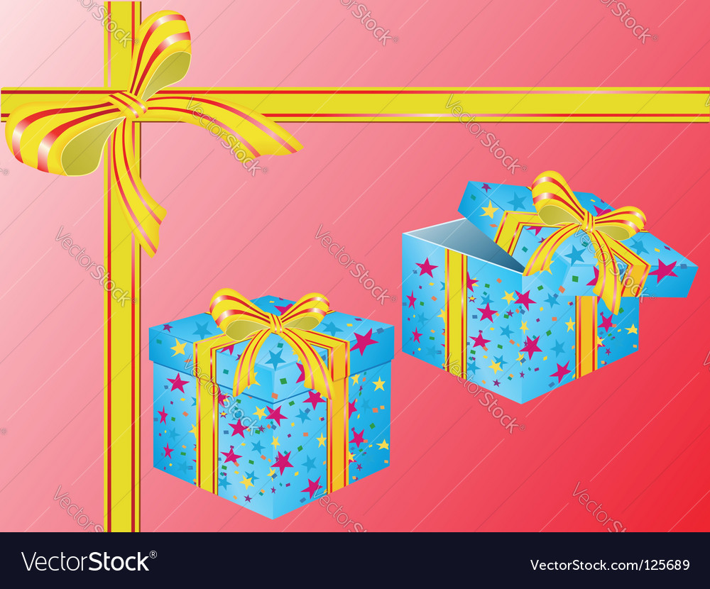 Two boxes for gifts vector | Price: 1 Credit (USD $1)