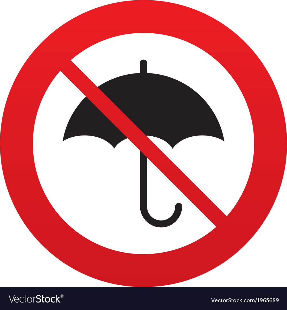Umbrella sign icon rain protection symbol vector | Price: 1 Credit (USD $1)