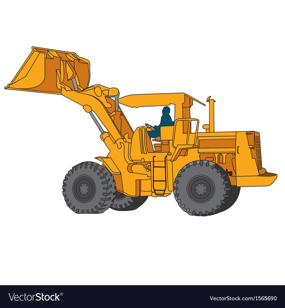 Back hoe vector | Price: 1 Credit (USD $1)