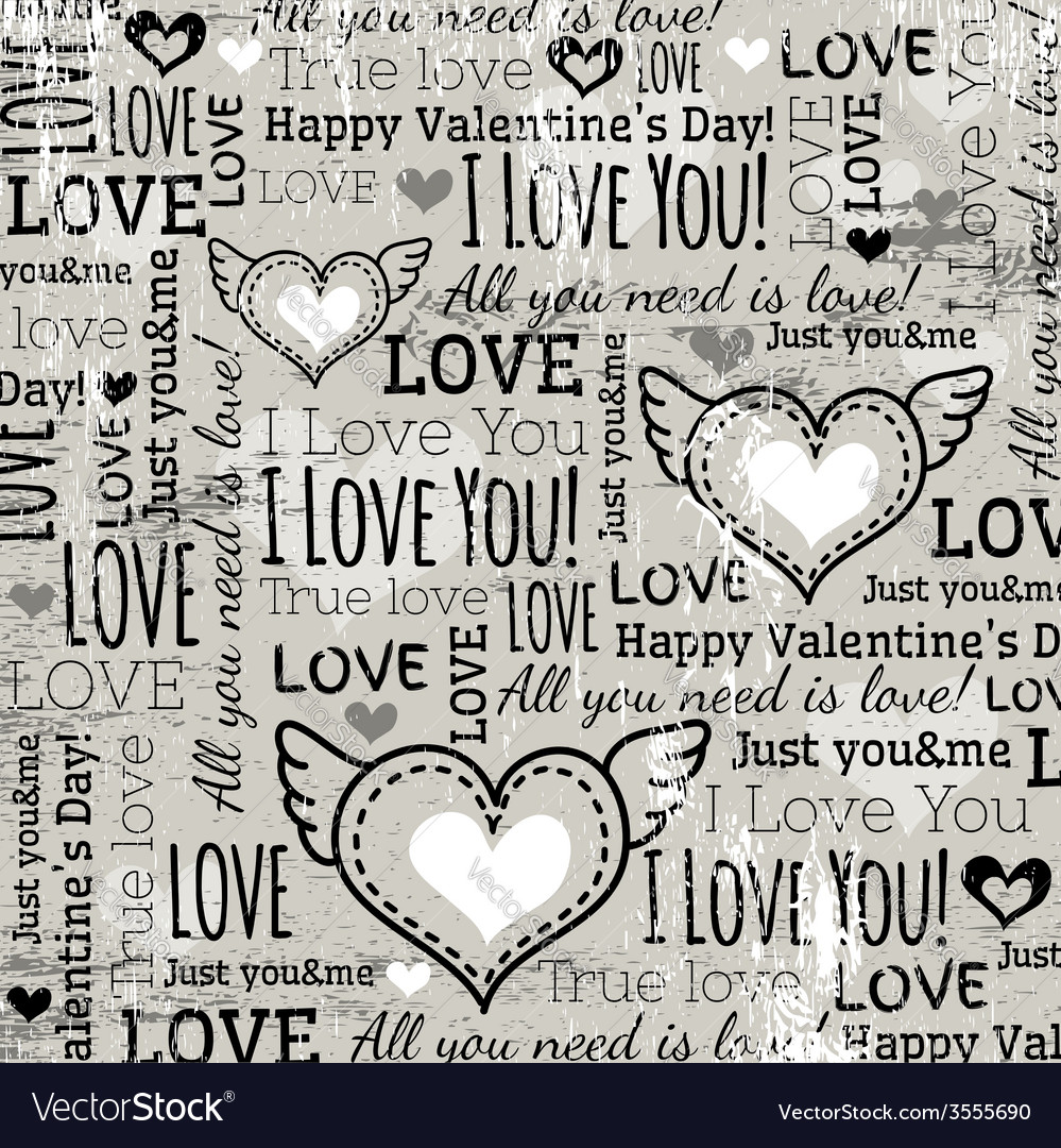 Background with valentine heart and wishes text vector | Price: 1 Credit (USD $1)