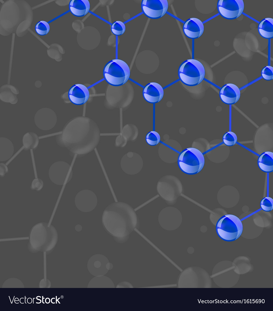 Blue molecular structures chain vector | Price: 1 Credit (USD $1)