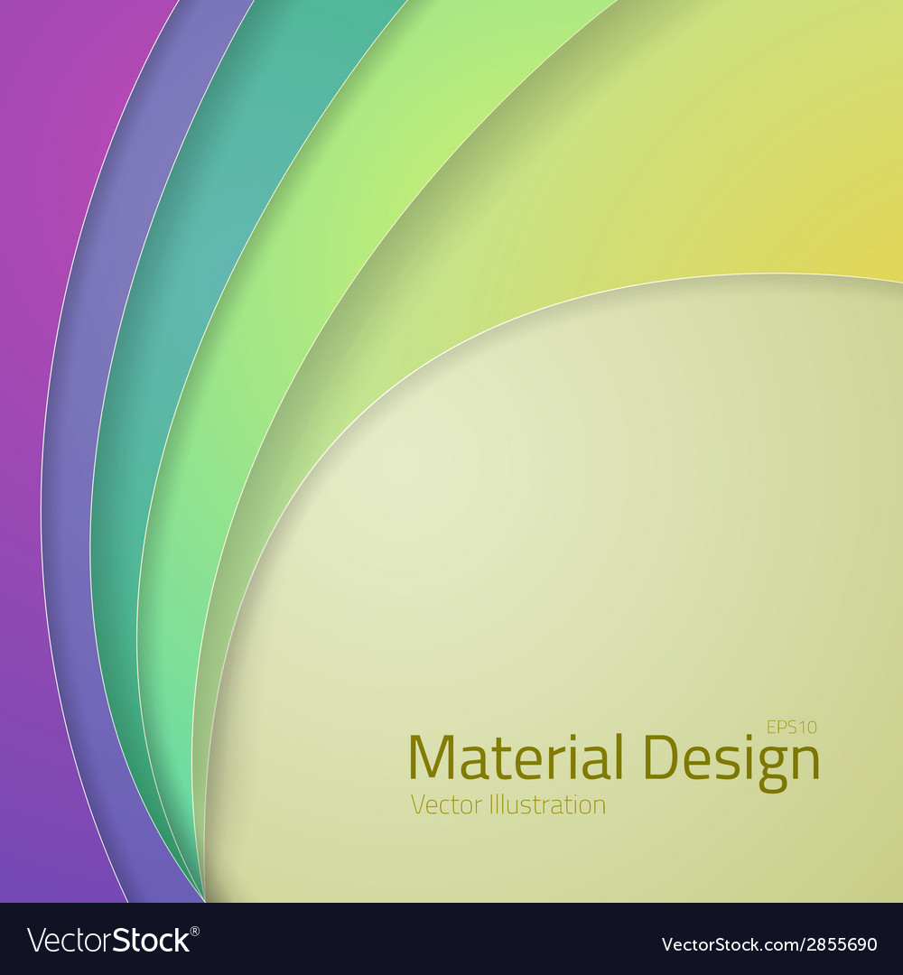 Bright colorfull material design abstract lines vector | Price: 1 Credit (USD $1)