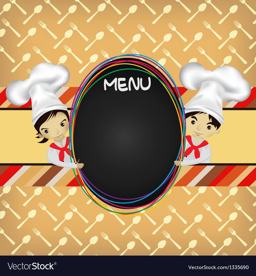 Chef menu vector | Price: 1 Credit (USD $1)