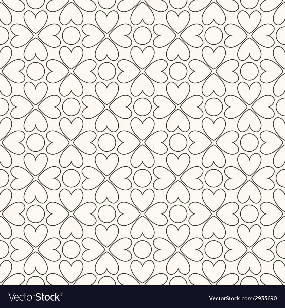 Floral seamless pattern black and white colors vector | Price: 1 Credit (USD $1)