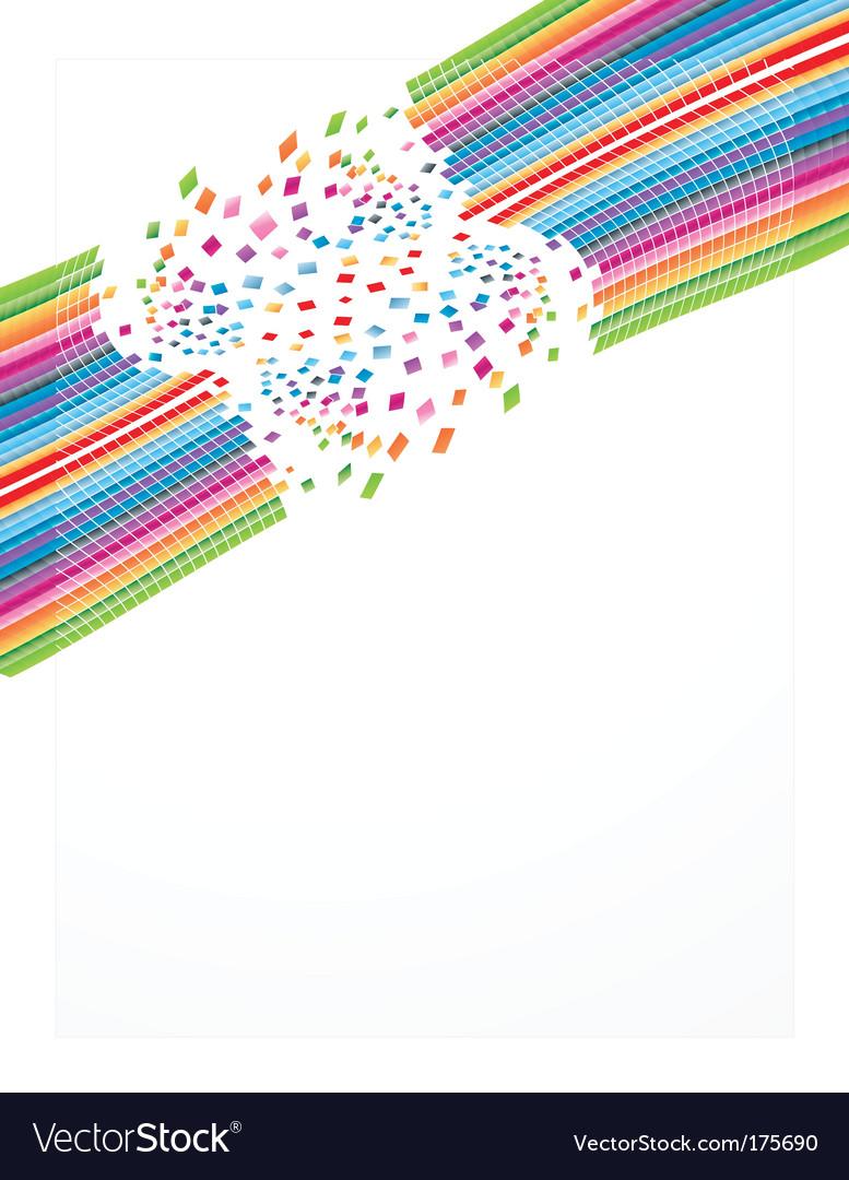 Rainbow business sheet design vector | Price: 1 Credit (USD $1)