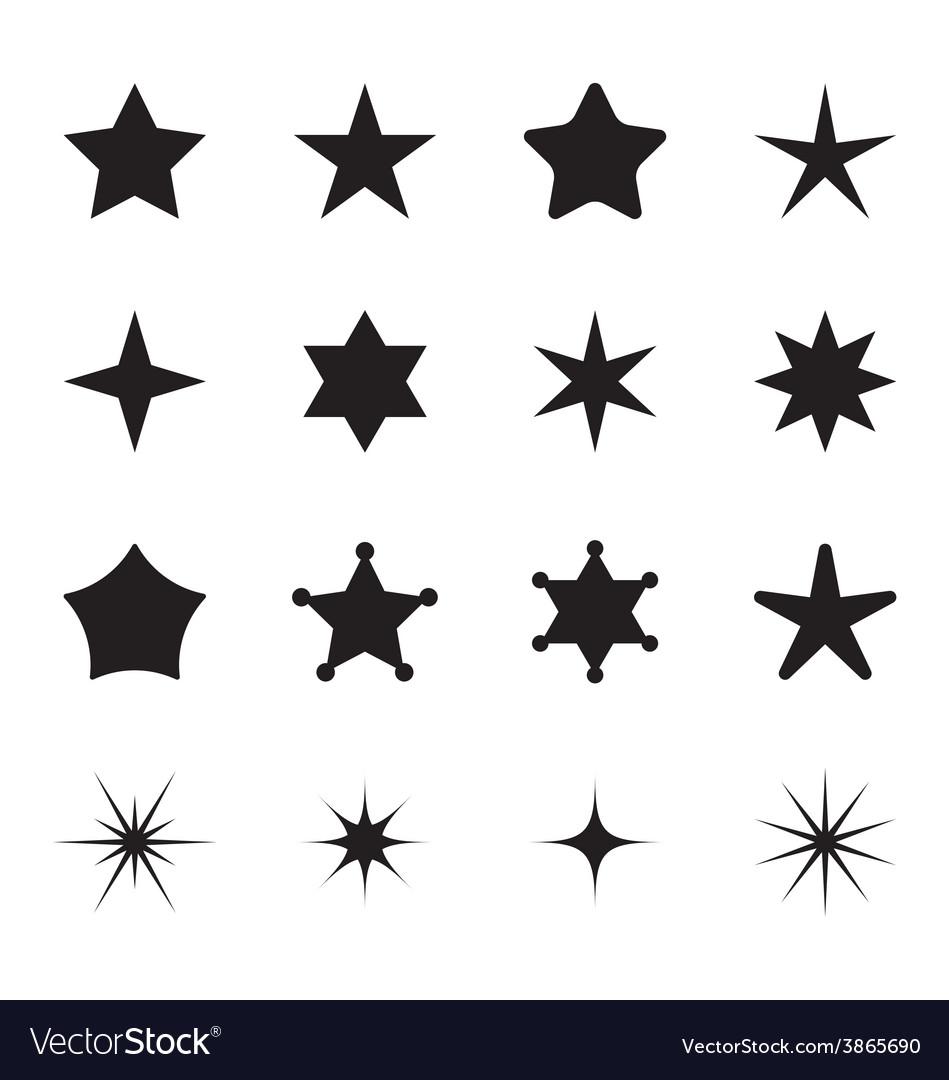 Star icon set vector | Price: 1 Credit (USD $1)