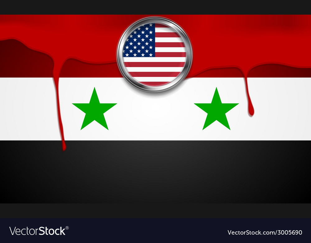 Usa and syria political concept background vector | Price: 1 Credit (USD $1)