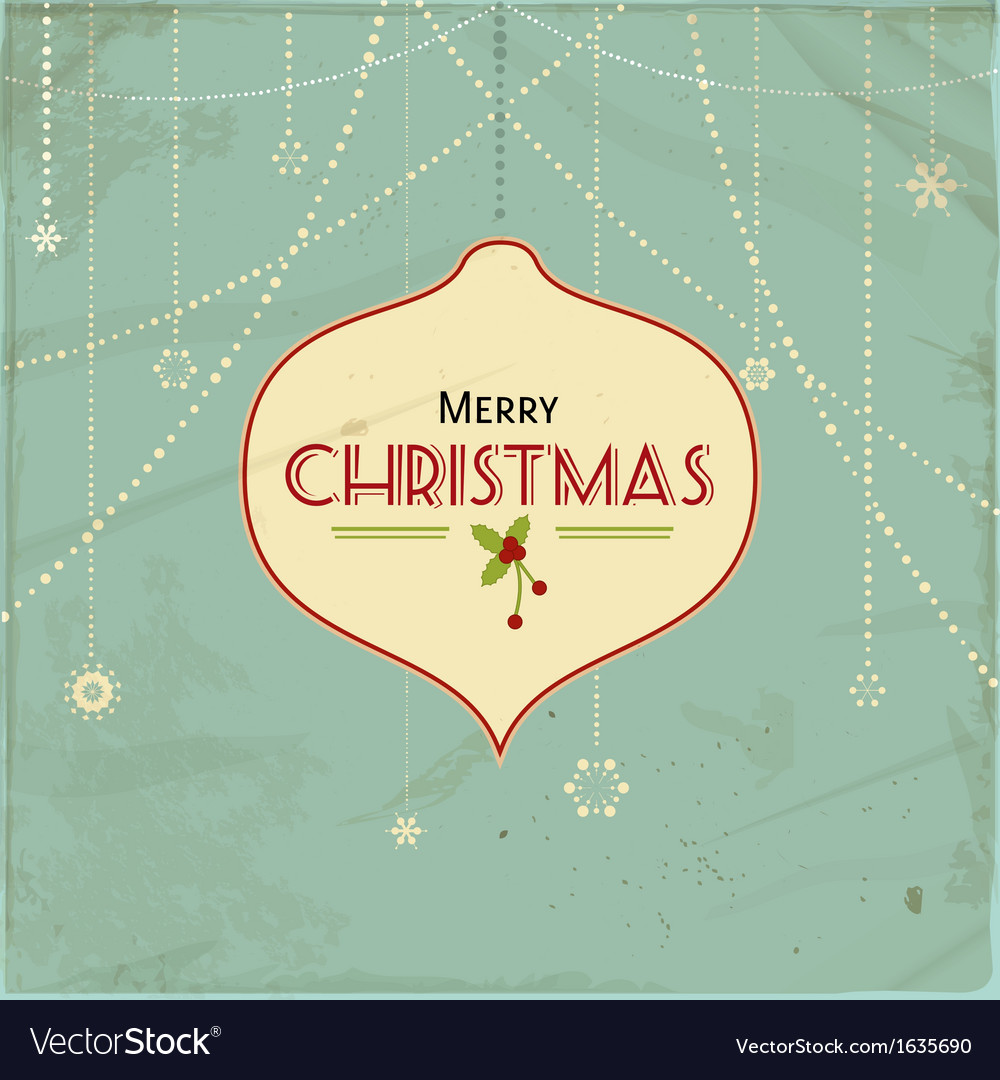 Vintage christmas background2 vector | Price: 1 Credit (USD $1)