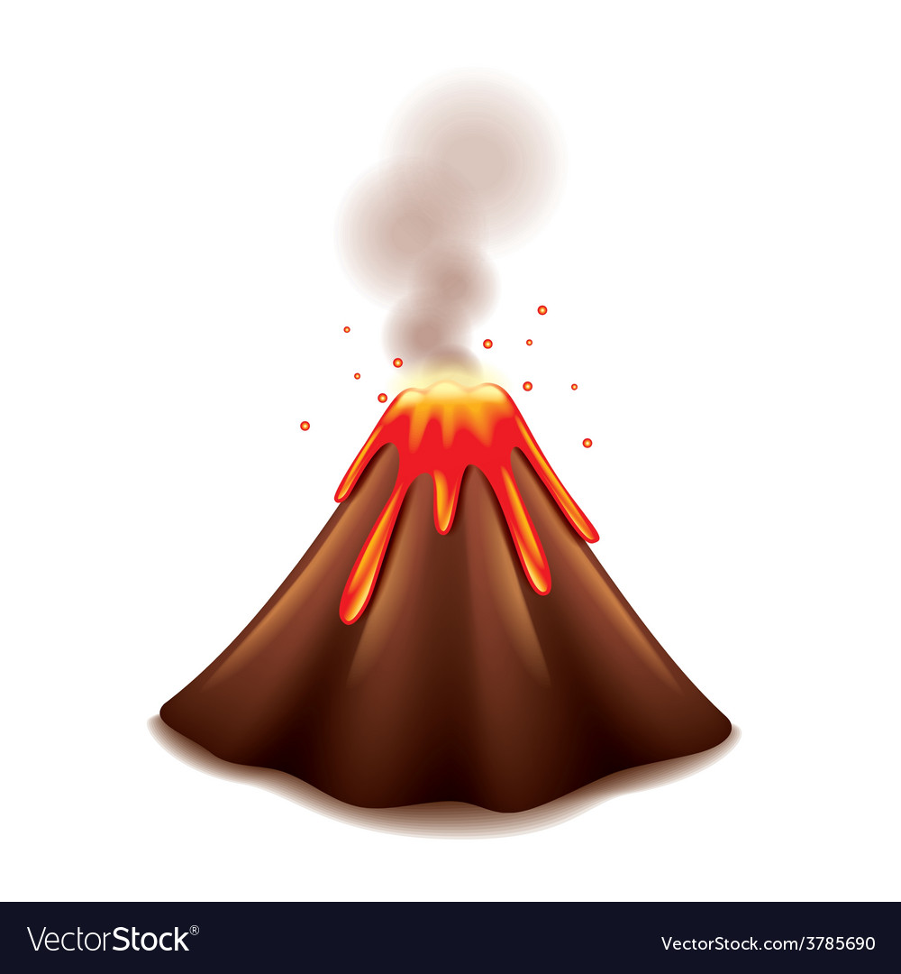 Volcano isolated vector | Price: 3 Credit (USD $3)