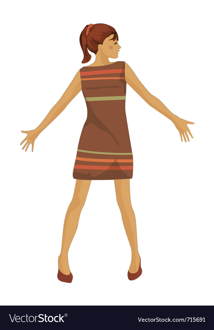 Beautiful girl isolated vector | Price: 1 Credit (USD $1)
