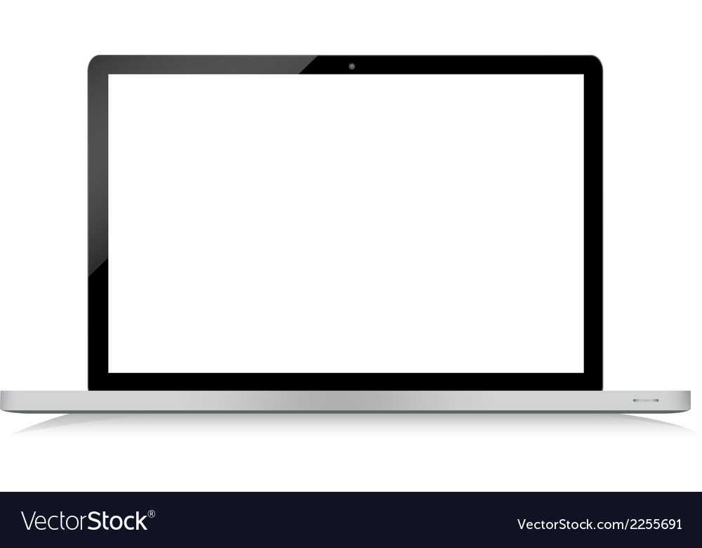 Black modern laptop on white background vector | Price: 1 Credit (USD $1)