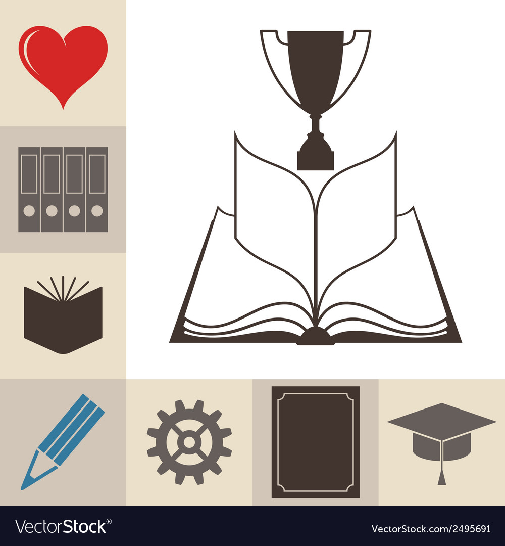 Book education knowledge vector | Price: 1 Credit (USD $1)