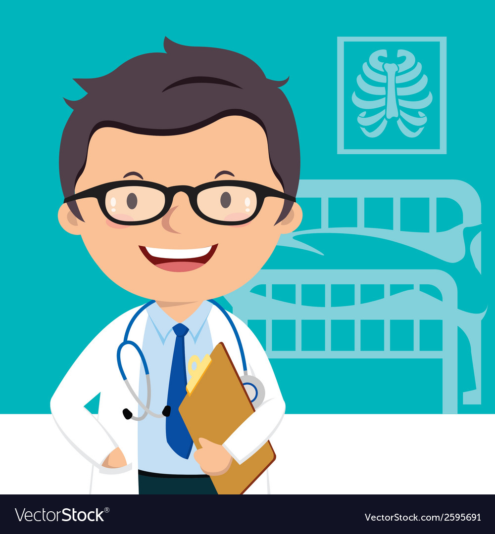 Confident medical doctor vector | Price: 1 Credit (USD $1)