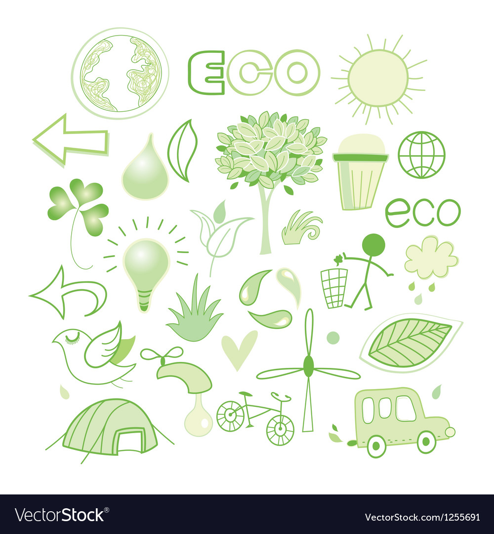Graphics and icons ecology vector | Price: 1 Credit (USD $1)