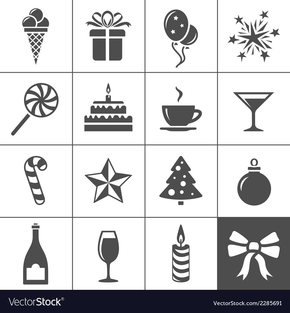 Holidays and event icons vector | Price: 1 Credit (USD $1)