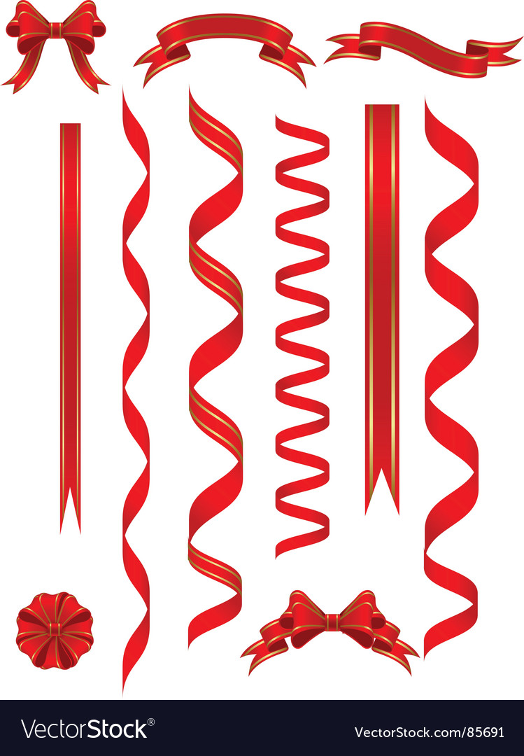 Red banners vector | Price: 1 Credit (USD $1)