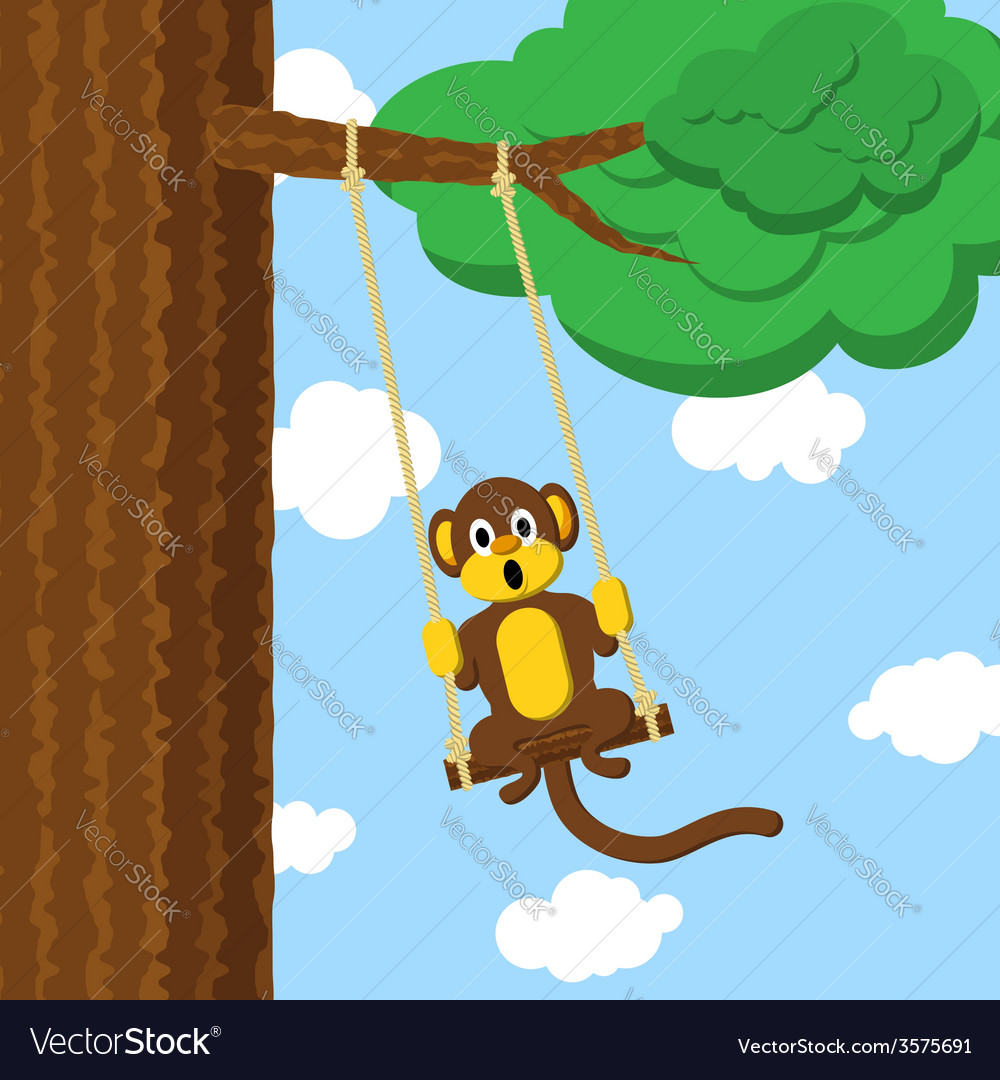 Swinging monkey vector | Price: 1 Credit (USD $1)