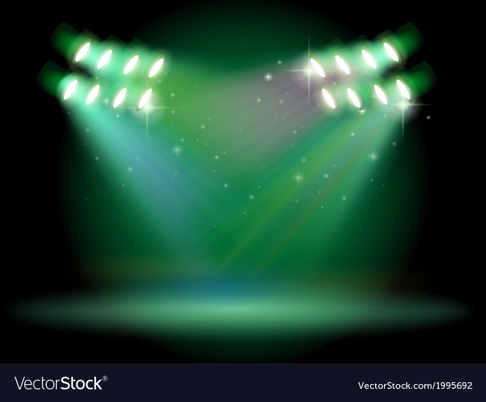 A stage with spotlights vector | Price: 1 Credit (USD $1)