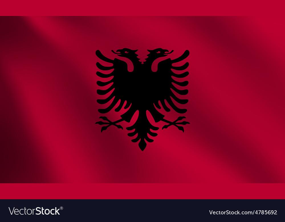 Albania flag vector | Price: 1 Credit (USD $1)