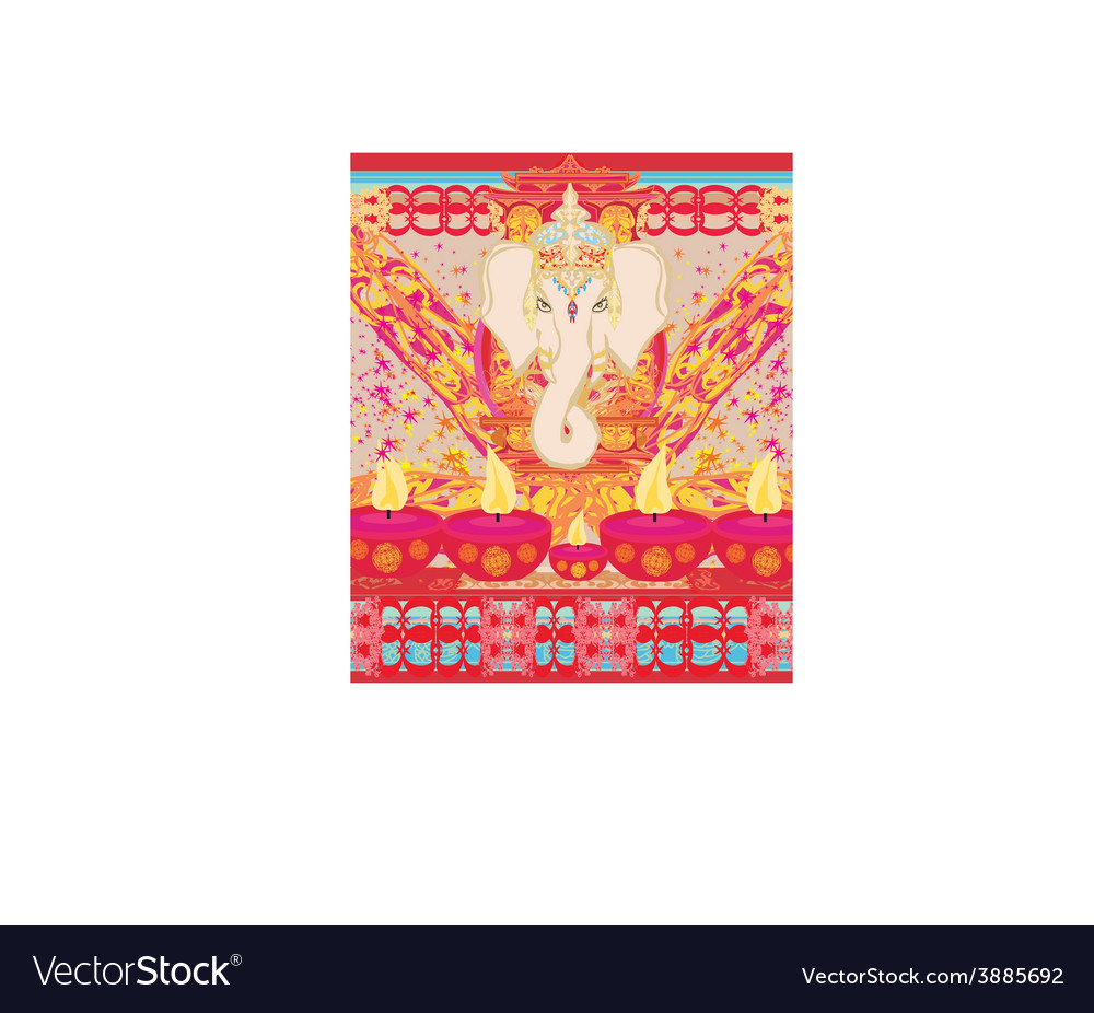 Diwali ganesha design vector | Price: 1 Credit (USD $1)