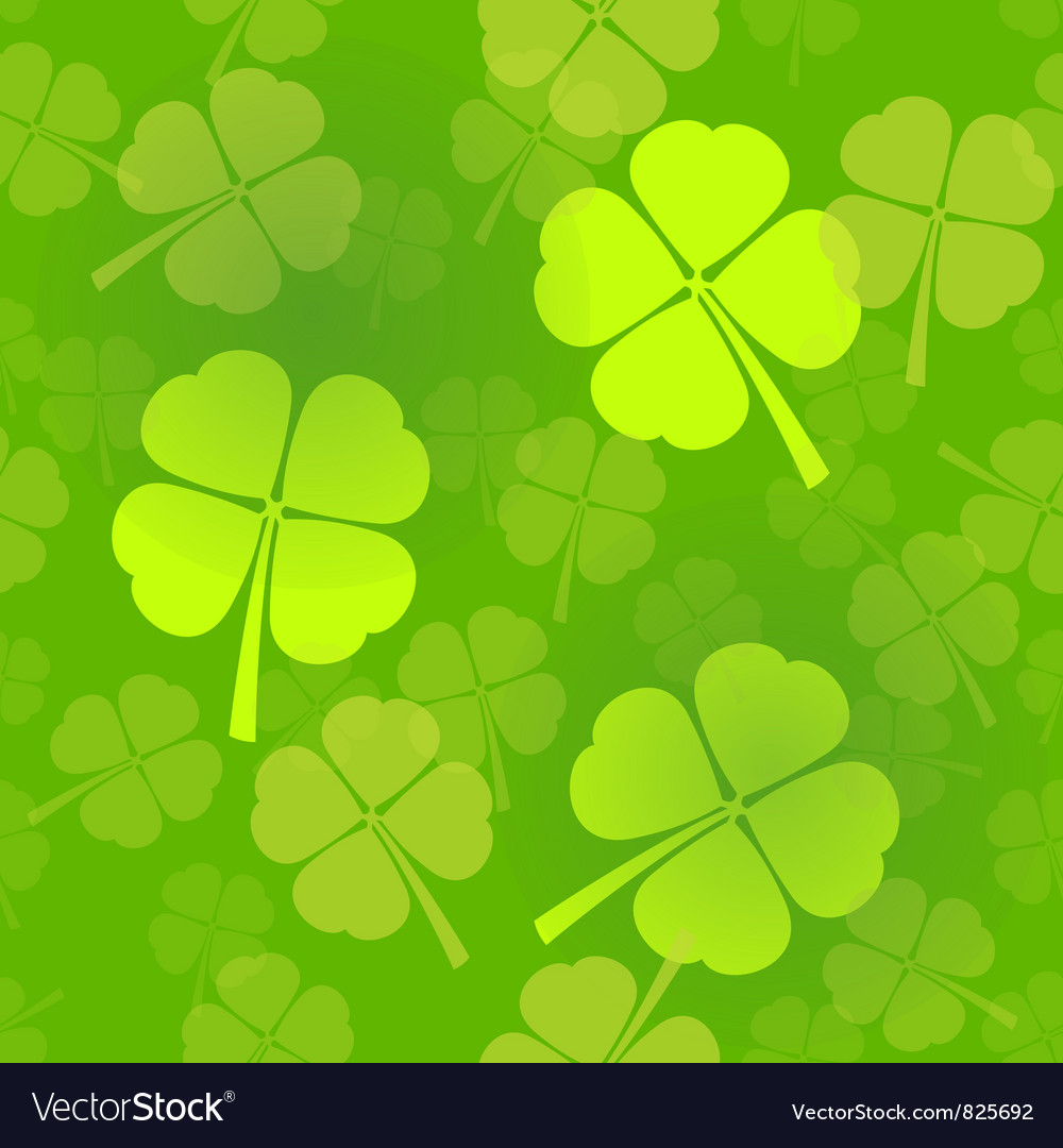 Four-leaf clover pattern vector | Price: 1 Credit (USD $1)