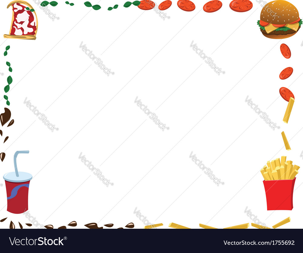 Horizontal menu frame vector | Price: 1 Credit (USD $1)