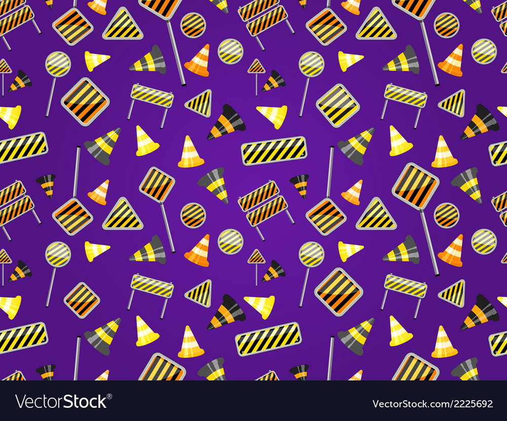Seamless pattern of road sign vector | Price: 1 Credit (USD $1)