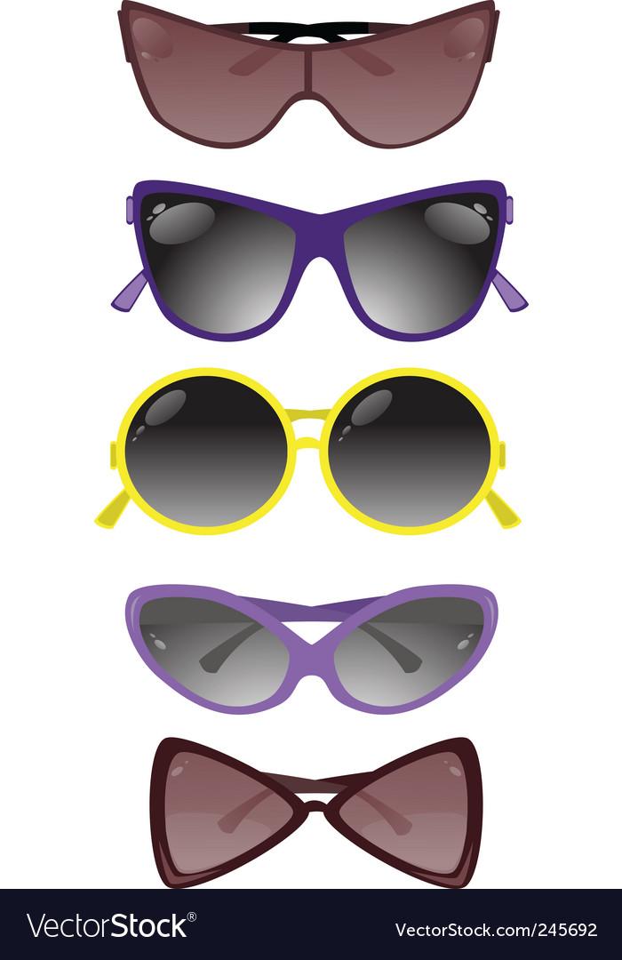 Solar glasses vector | Price: 1 Credit (USD $1)