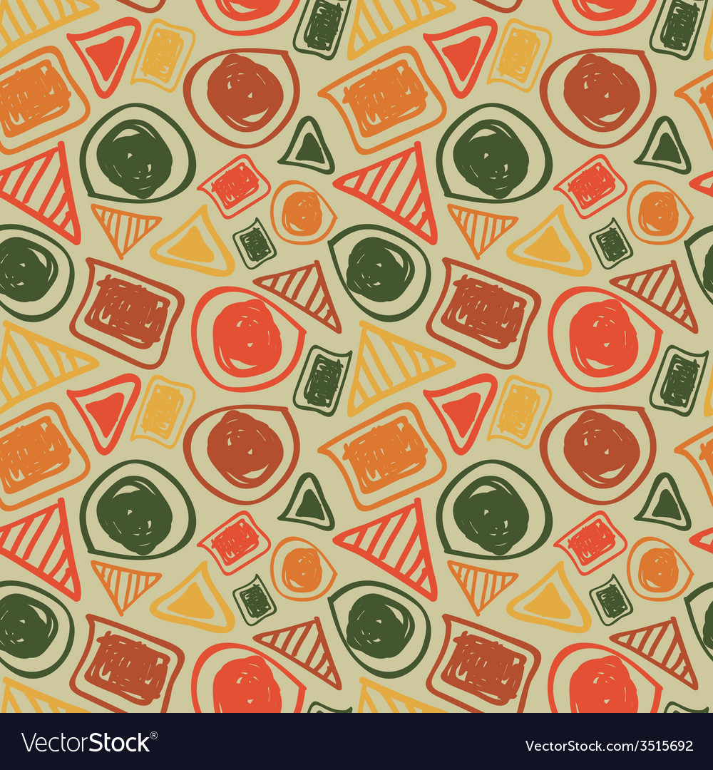 Vintage abstract seamless pattern vector | Price: 1 Credit (USD $1)