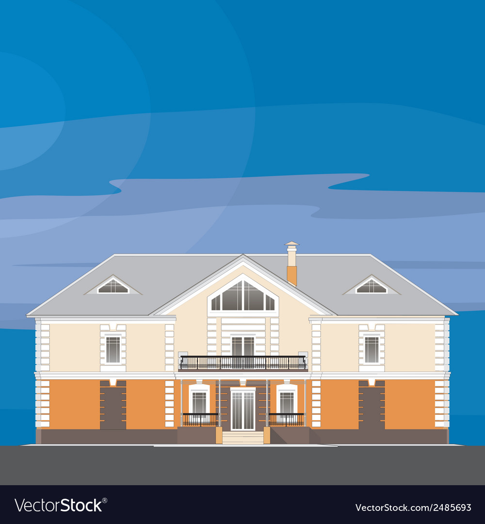 01 classical mansion v vector | Price: 1 Credit (USD $1)