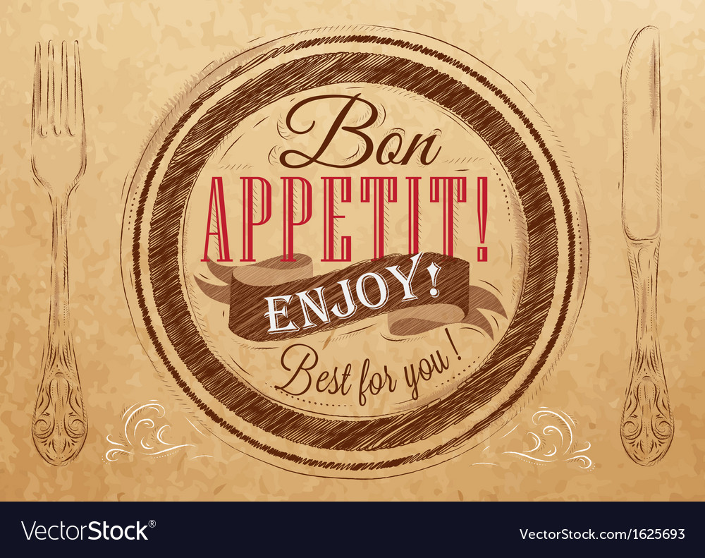 Bon appetit kraft vector | Price: 1 Credit (USD $1)