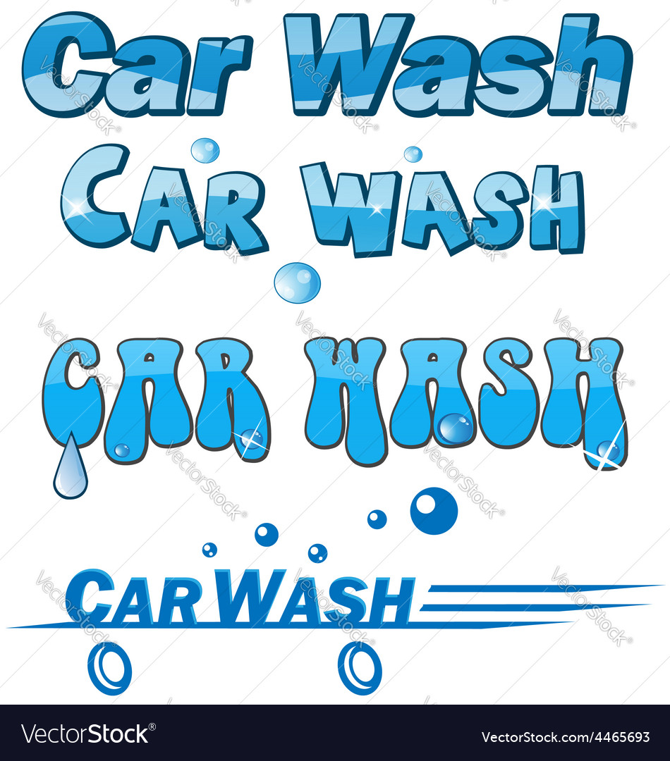 Car wash symbol set vector | Price: 1 Credit (USD $1)