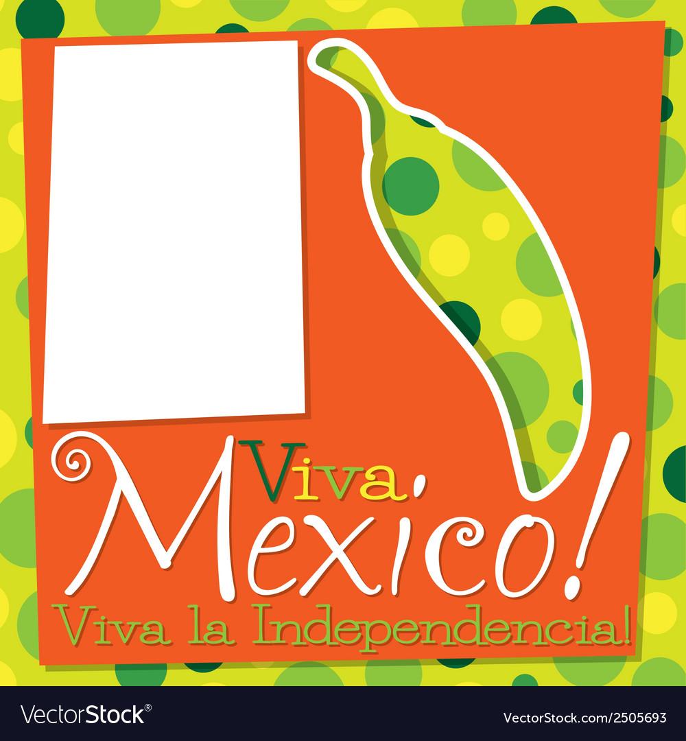Cinco de mayo chilli card in format vector | Price: 1 Credit (USD $1)