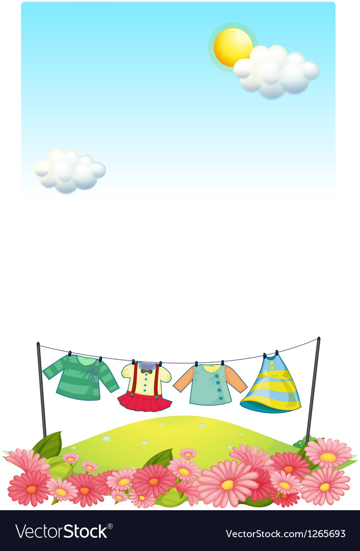 Hanging clothes at the hilltop vector   Price: 1 Credit (USD $1)