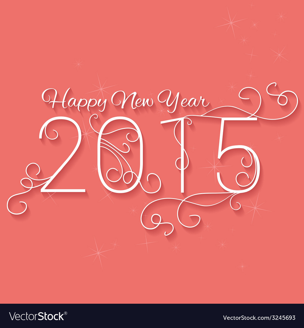 Happy new year 2015 christmas background vector | Price: 1 Credit (USD $1)