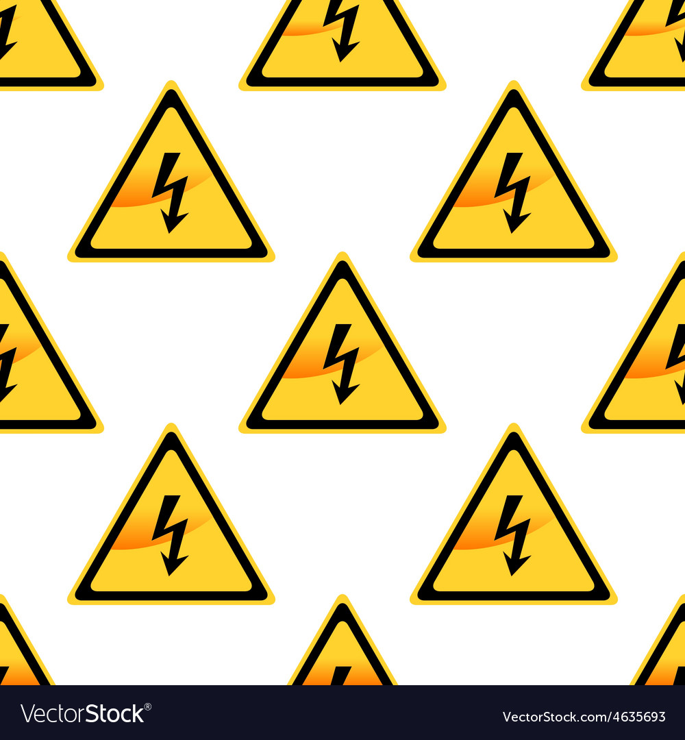 High voltage sign pattern vector | Price: 1 Credit (USD $1)