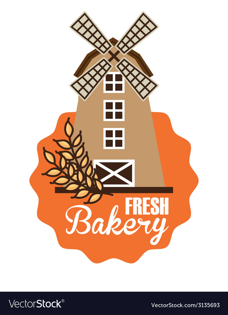 Mill bakery design vector | Price: 1 Credit (USD $1)