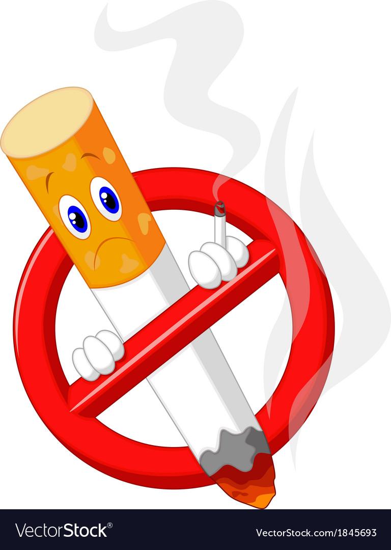 No smoking cartoon symbol vector | Price: 1 Credit (USD $1)