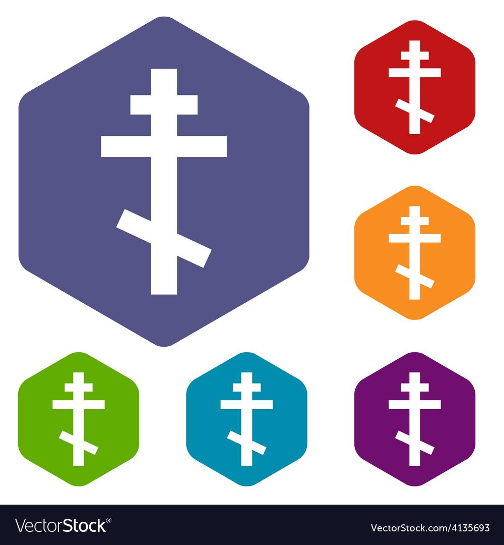 Orthodoxy rhombus icons vector | Price: 1 Credit (USD $1)