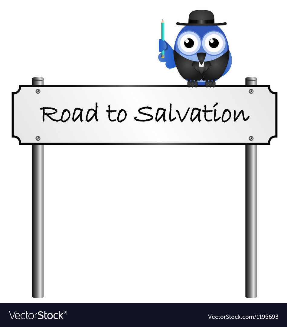 Road sign salvation vector | Price: 1 Credit (USD $1)