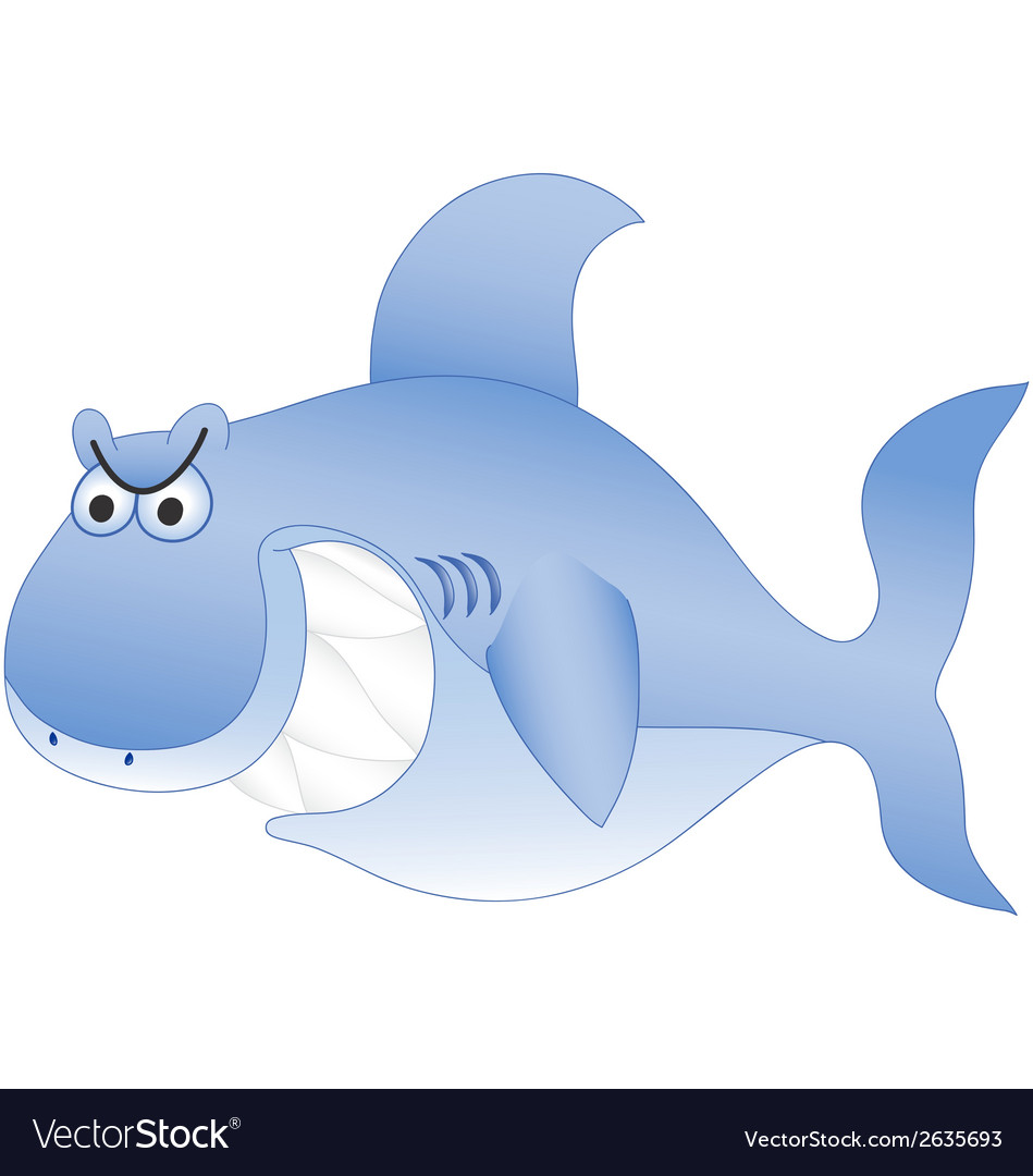 Smiling blue shark vector | Price: 1 Credit (USD $1)