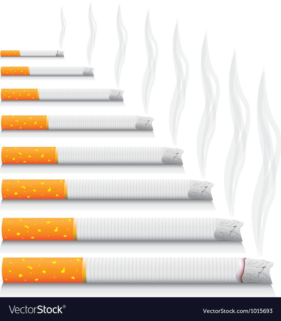 Smoking cigarettes vector | Price: 1 Credit (USD $1)
