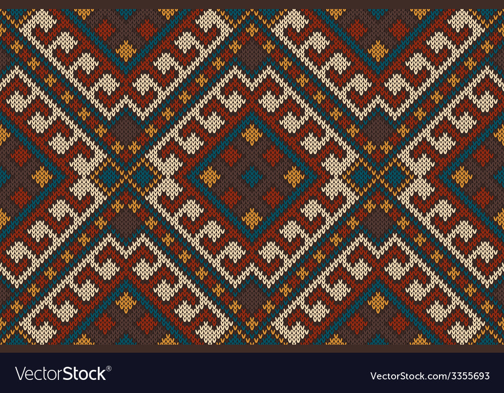 Traditional tribal aztec seamless pattern ornament vector | Price: 1 Credit (USD $1)