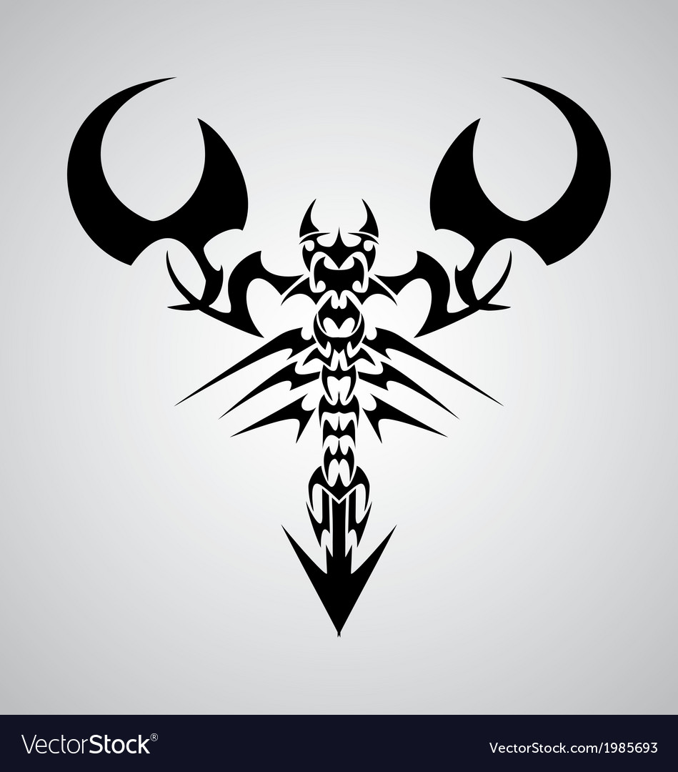 Tribal scorpion vector | Price: 1 Credit (USD $1)