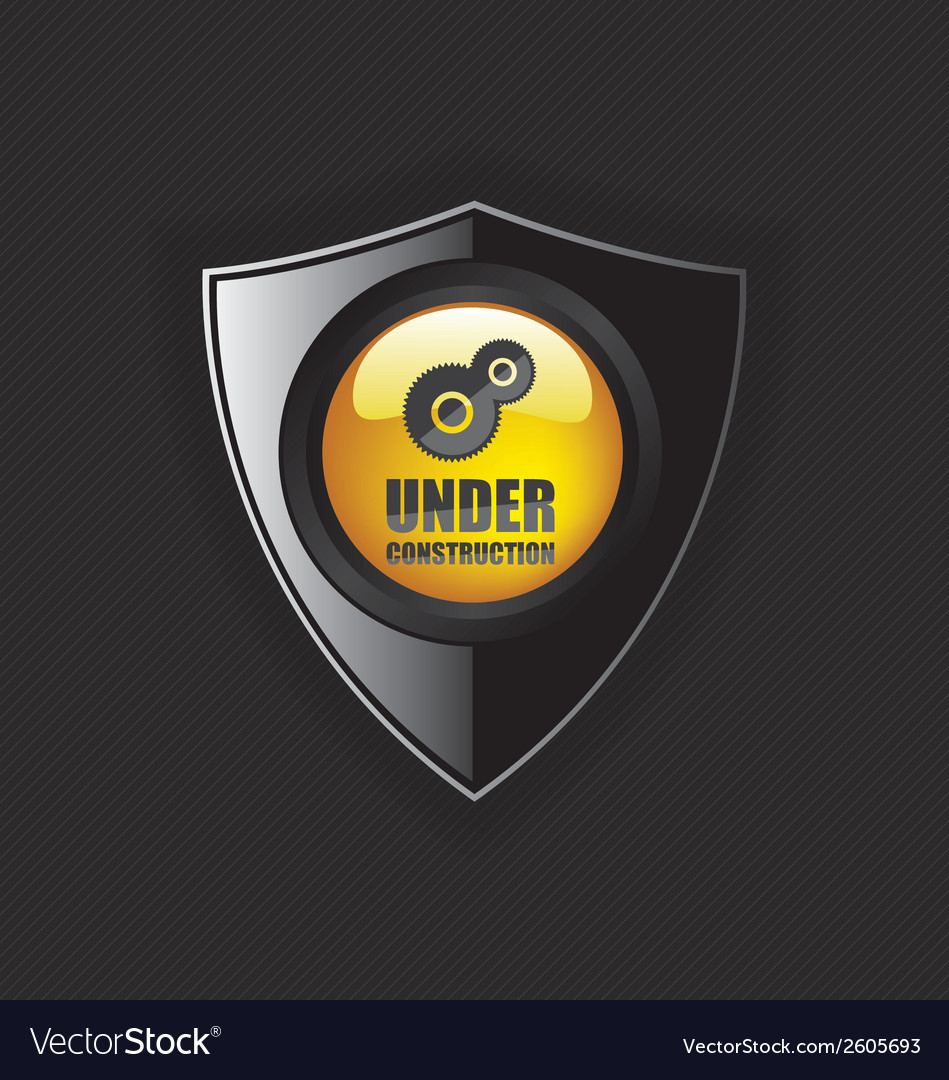 Under construction shields vector | Price: 1 Credit (USD $1)