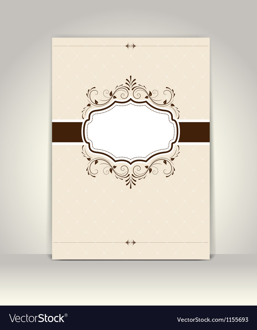 Vintage invitation template retro design vector | Price: 1 Credit (USD $1)
