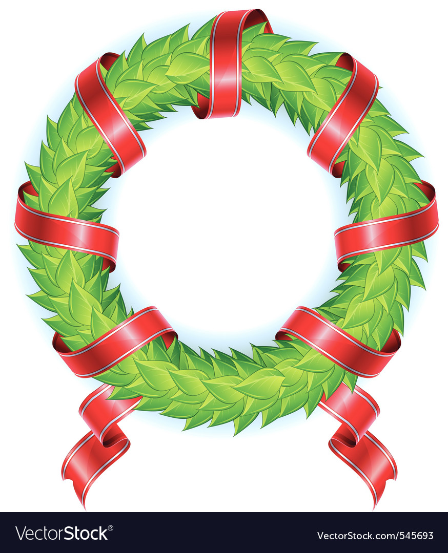 Wreath ribbon vector | Price: 1 Credit (USD $1)