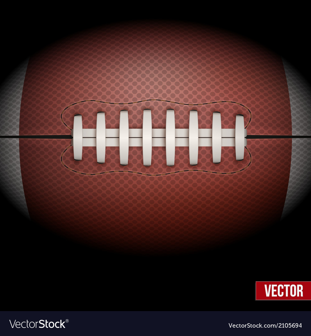 Background of american football ball vector