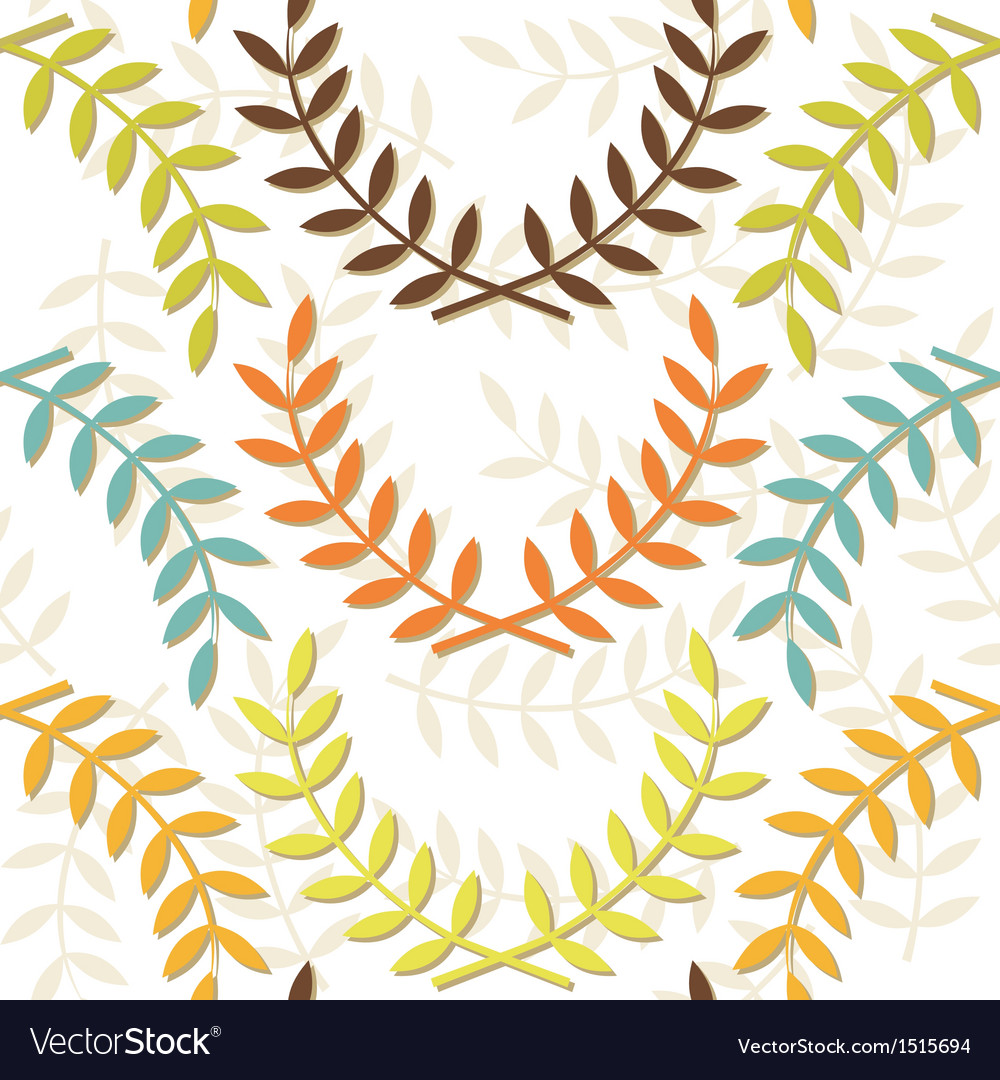 Beige branch patterns vector | Price: 1 Credit (USD $1)