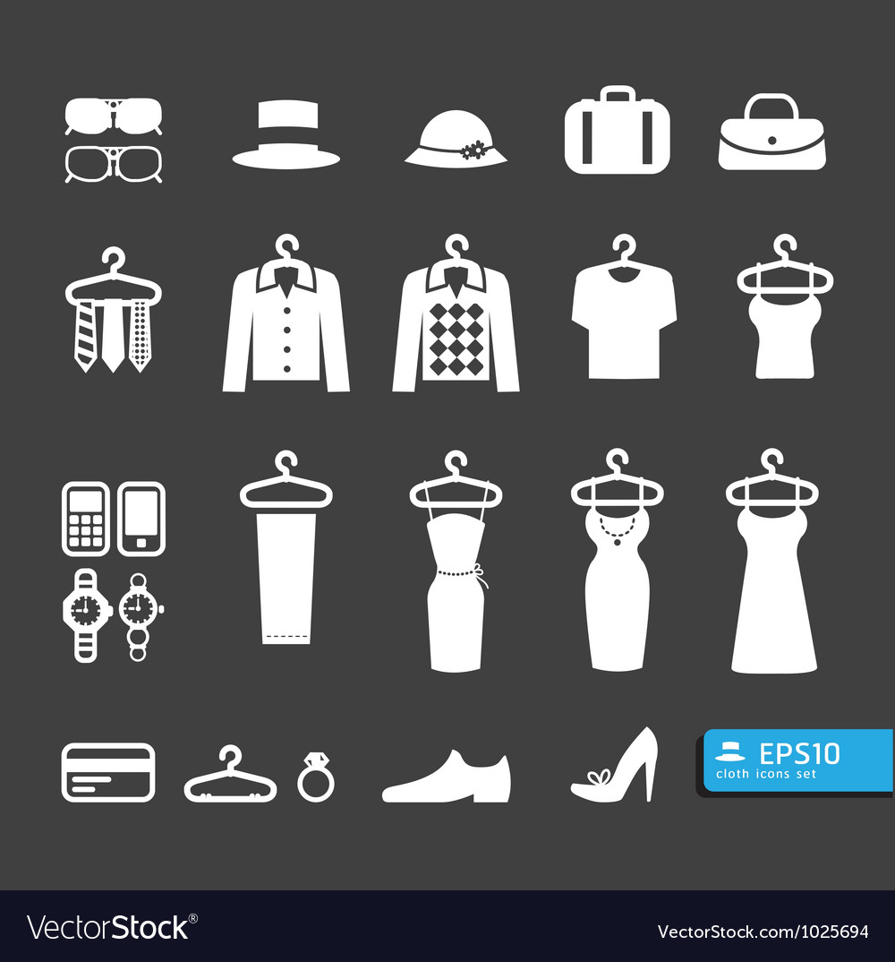 Elements of clothing store icon vector | Price: 1 Credit (USD $1)